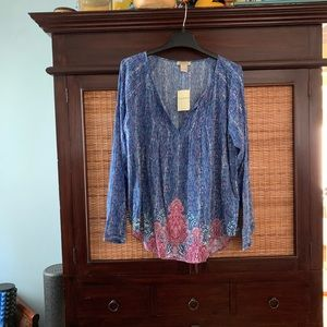 NWT Lucy brand blouse